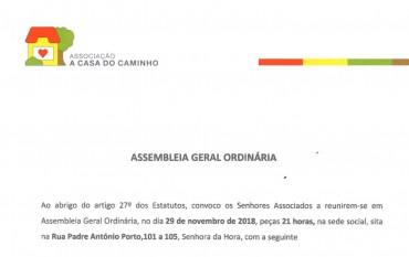 Assembleia Geral Ordinária | Convocatória