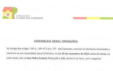 CONVOCATÓRIA PARA A ASSEMBLEIA GERAL 29 DE NOVEMBRO