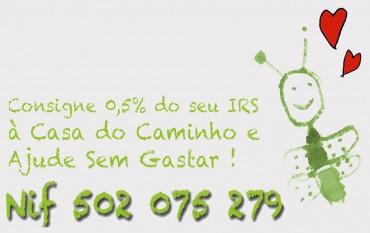 Ajude Sem Gastar consignando 0,5% do seu IRS